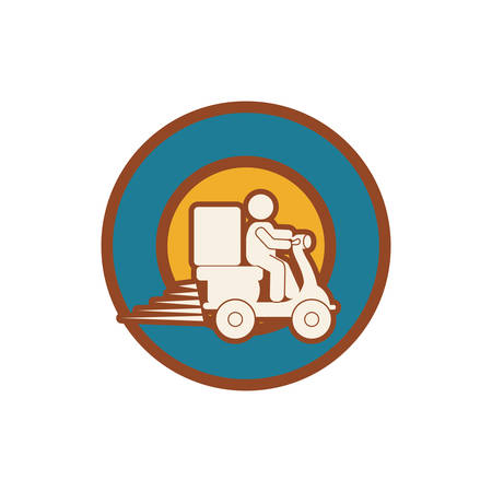 Delivery and logistic icon vector illustration graphic design