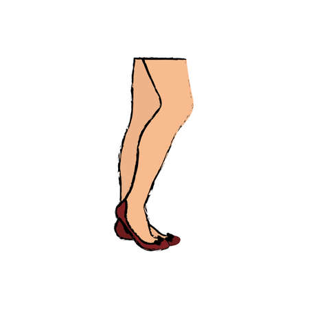 Woman legs cartoon icon vector illustration graphic design Stock Photo