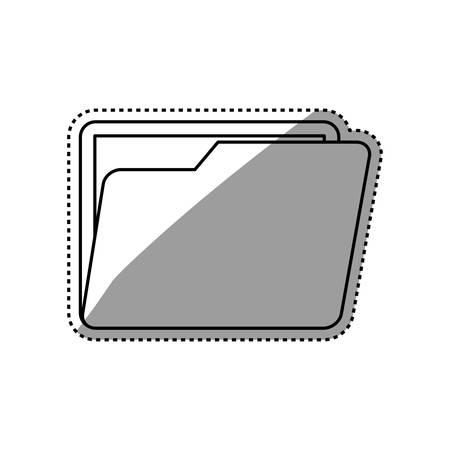 Omslag bedrijfsdocument pictogram vector illustratie grafisch ontwerp