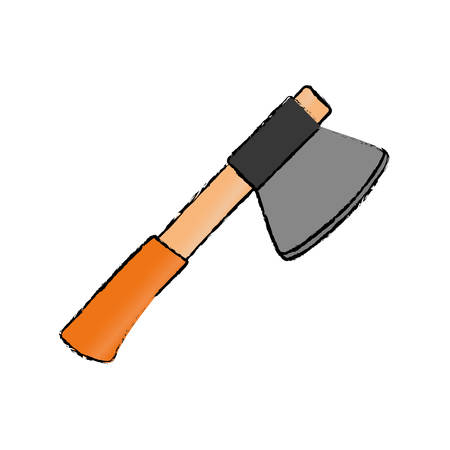 Axe construction tool icon vector illustration graphic design Illustration