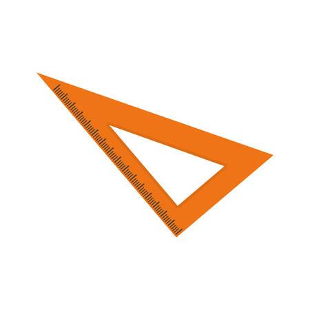 handtools: Set square ruler icon vector illustration graphic design