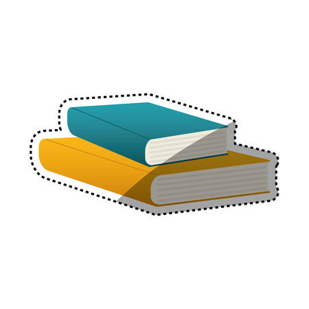 Books library education icon vector illustration graphic design Illustration