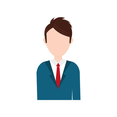 colourful tie: Businessman executive profile icon vector illustration graphic design Illustration