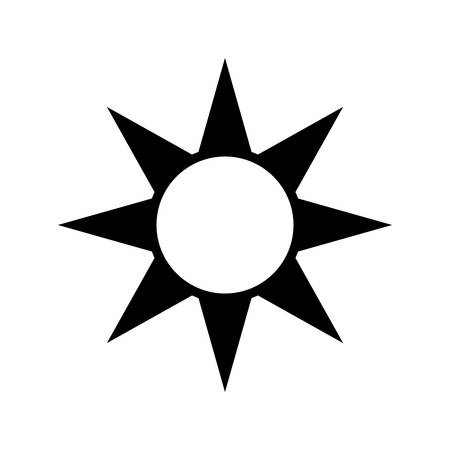 Sun energy symbol icon vector illustration graphic design