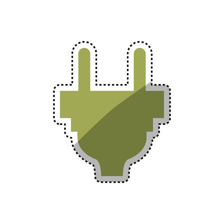 Electric plug symbol icon vector illustration graphic design