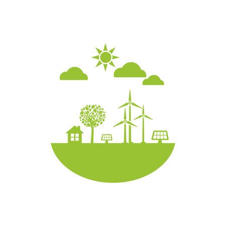 ecología icono de la ecología ilustración vectorial diseño gráfico