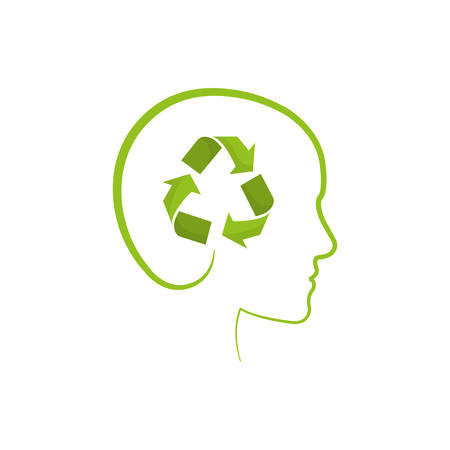 ming: Go green ecology icon vector illustration graphic design
