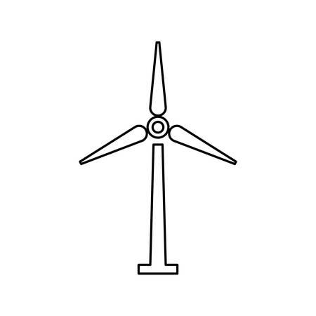 Wind turbine energy icon vector illustration graphic design