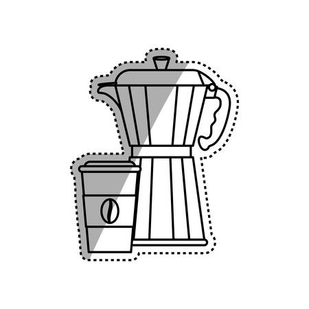 stainless: Coffee stainless kettle icon vector illustration graphic design Illustration