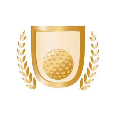 Golf game sport icon vector illustration graphic design