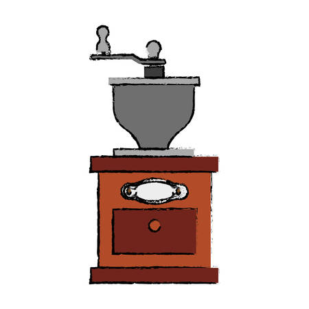 Coffee grinder equipment icon vector illustration graphic design