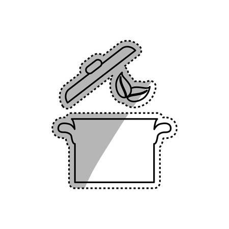 Saucepan kitchen cookware icon vector illustration graphic design Illustration