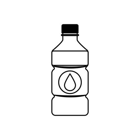 cold water: Cold water bottle icon vector illustration graphic design Illustration