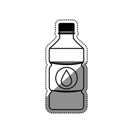 Cold water bottle icon vector illustration graphic design Illustration