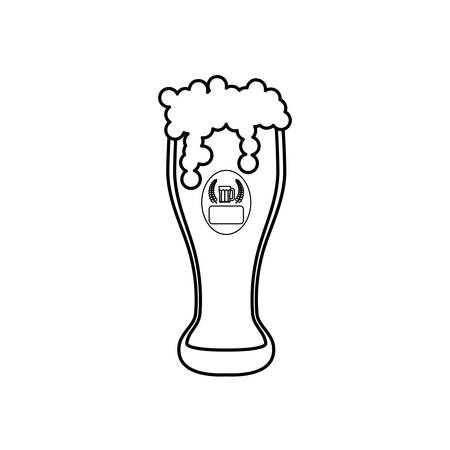 Delicious and cold beer icon vector illustration graphic design