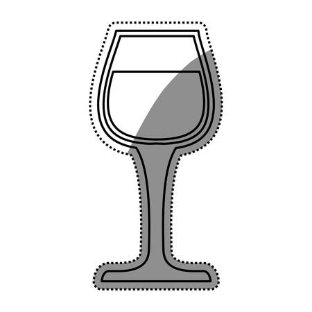 wineglass: Delicious cup of wine icon vector illustration graphic design