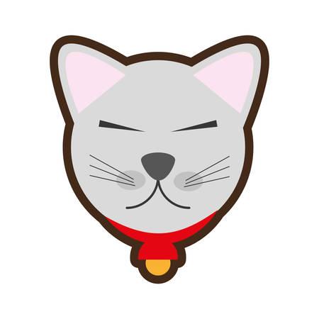 neko: cartoon maneki neko - cat japanese vector illustration Illustration