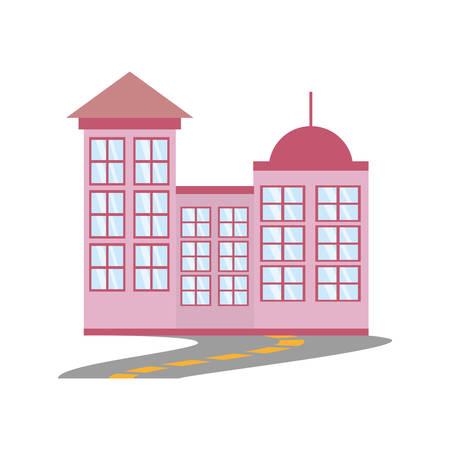 Building modern urban road vector illustration eps 10 Illustration
