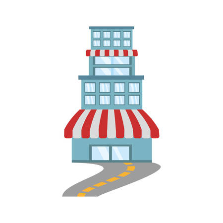 building store market road vector illustration eps 10