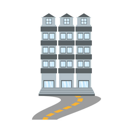 building apartment family road vector illustration eps 10