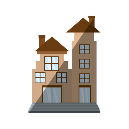 real estate apartment building shadow Illustration