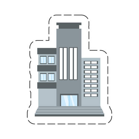 lighthearted: cartoon building living place vector illustration