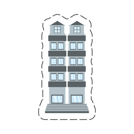 cartoon building apartment family vector illustration eps 10 Иллюстрация