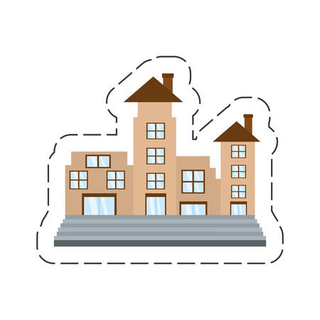 cartoon real estate apartment building vector illustration eps 10
