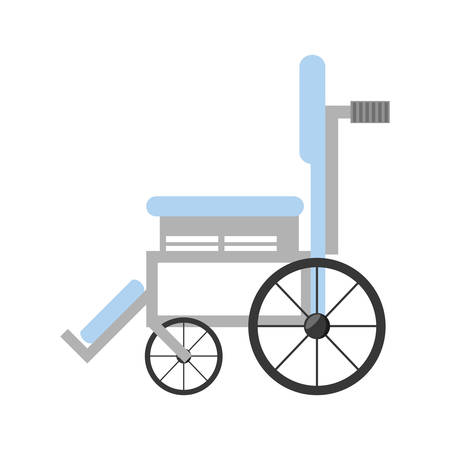 hospital stretcher: wheelchair medical equipment icon vector illustration eps 10 Illustration