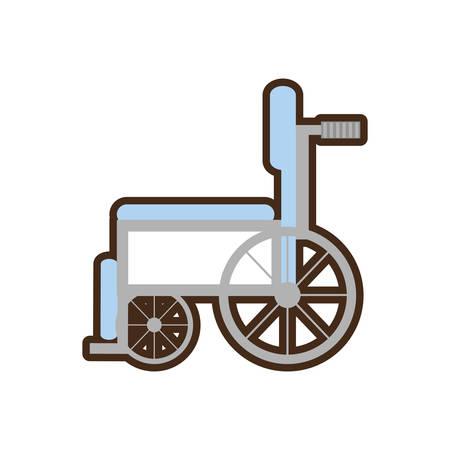 esp: wheelchair handicap medical symbol vector illustration esp 10