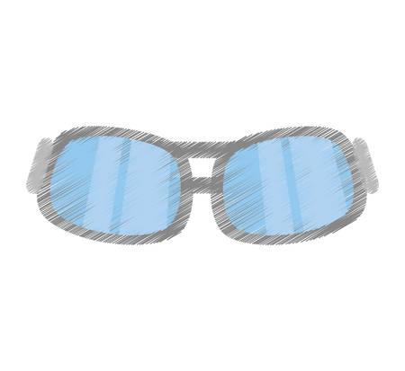 drawing glasses eye protect modern vector illustration eps 10 Illustration