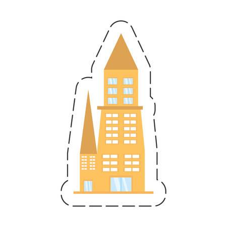 condominium: cartoon building architecture urban Illustration