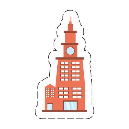 cartoon building contemporary city vector illustration eps 10 Illustration