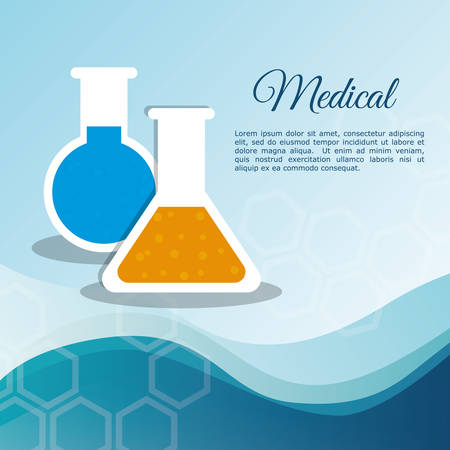 medical laboratory test tube vector illustration eps 10 Illustration