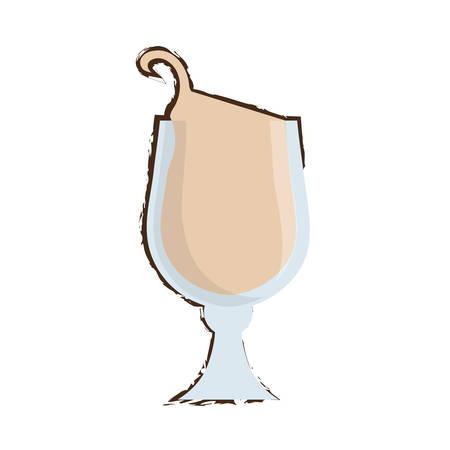 drawing glass coffee drink liquor