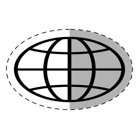 globe school thin line vector illustration eps 10