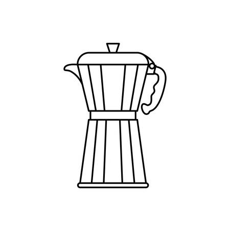 stainless: Coffee Kettle stainless icon vector illustration graphic design