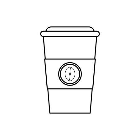 プラスチック製のカップのアイコン ベクトル イラスト グラフィック デザインのコーヒー