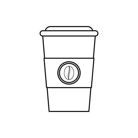 Coffee in plastic cup icon vector illustration graphic design Illustration