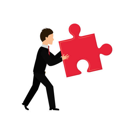 Jigsaw puzzle piece icon vector illustration graphic design Illustration