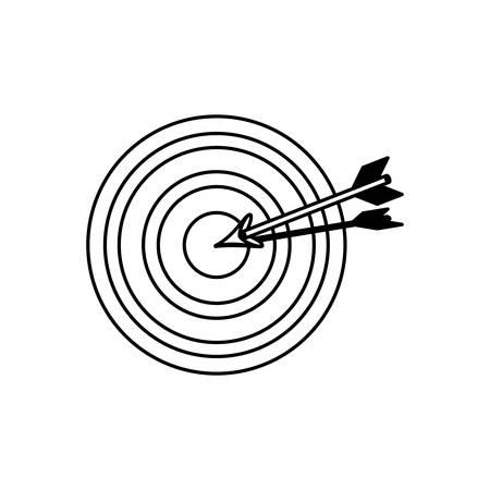 dartboard: Target dartboard symbol icon vector illustration graphic design Illustration