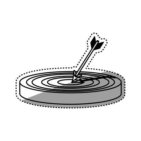 accurate: Target dartboard symbol icon vector illustration graphic design Illustration