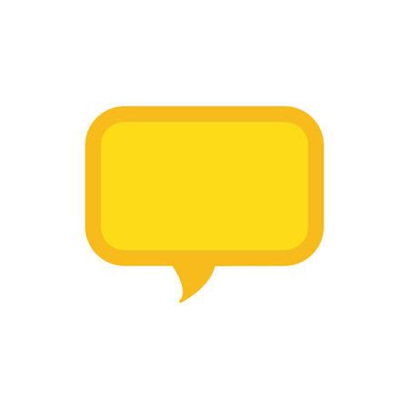 Chat bubble speakbox icon vector illustration graphic design