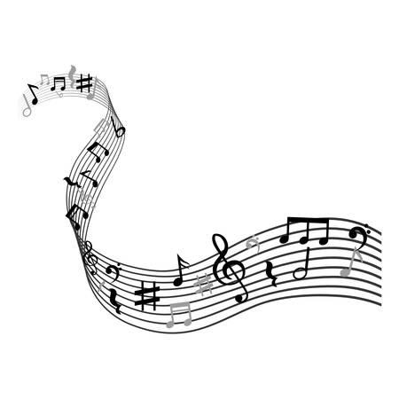 Música notas símbolo icono ilustración vectorial diseño gráfico