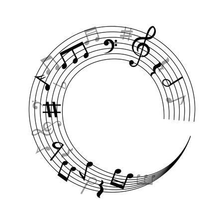 Note di musica icona simbolo illustrazione vettoriale illustrazione grafica