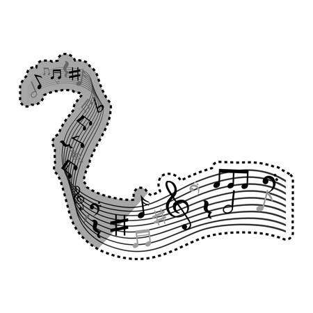 pentagramma musicale: Note di musica icona simbolo illustrazione vettoriale illustrazione grafica