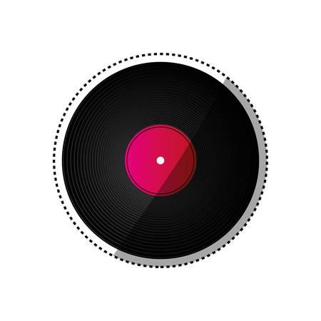 Vinyle, musique, isolé, icône, vecteur, illustration, graphisme