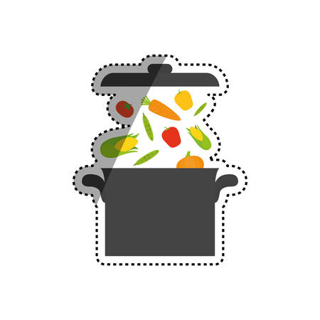 Delicious and fresh vegetables icon vector illustrration graphic design