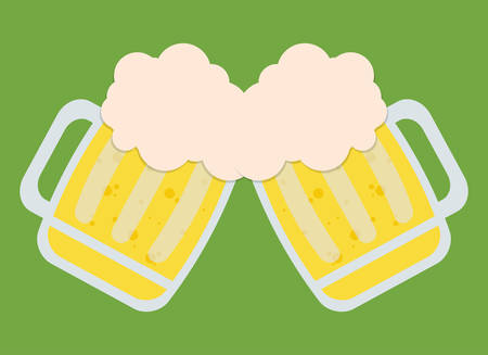 two beers toasting icon image vector illustration design