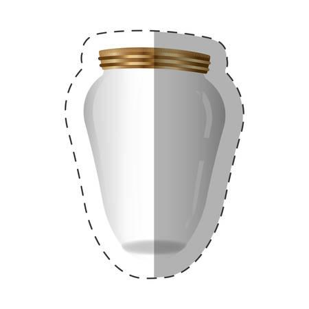 glass jar with metal cap vector illustration eps 10